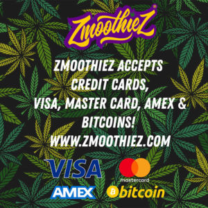 zmoothiez accepts credit cards and bitcoins
